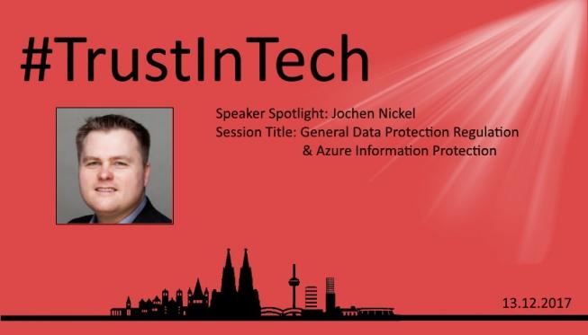 Jochen Nickel spricht bei Trust in Tech in den Räumen der sepago