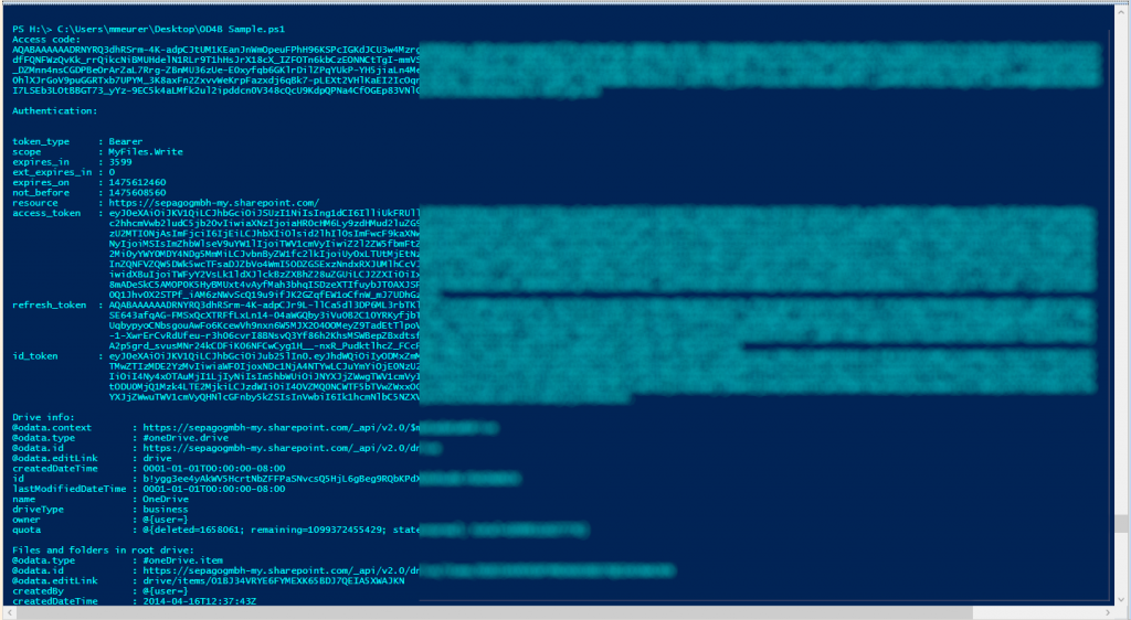 Access OneDrive for Business with PowerShell as an Azure AD