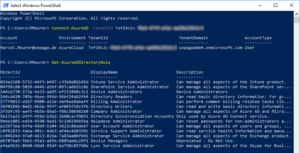 Enumerating Azure AD administrative accounts with PowerShell