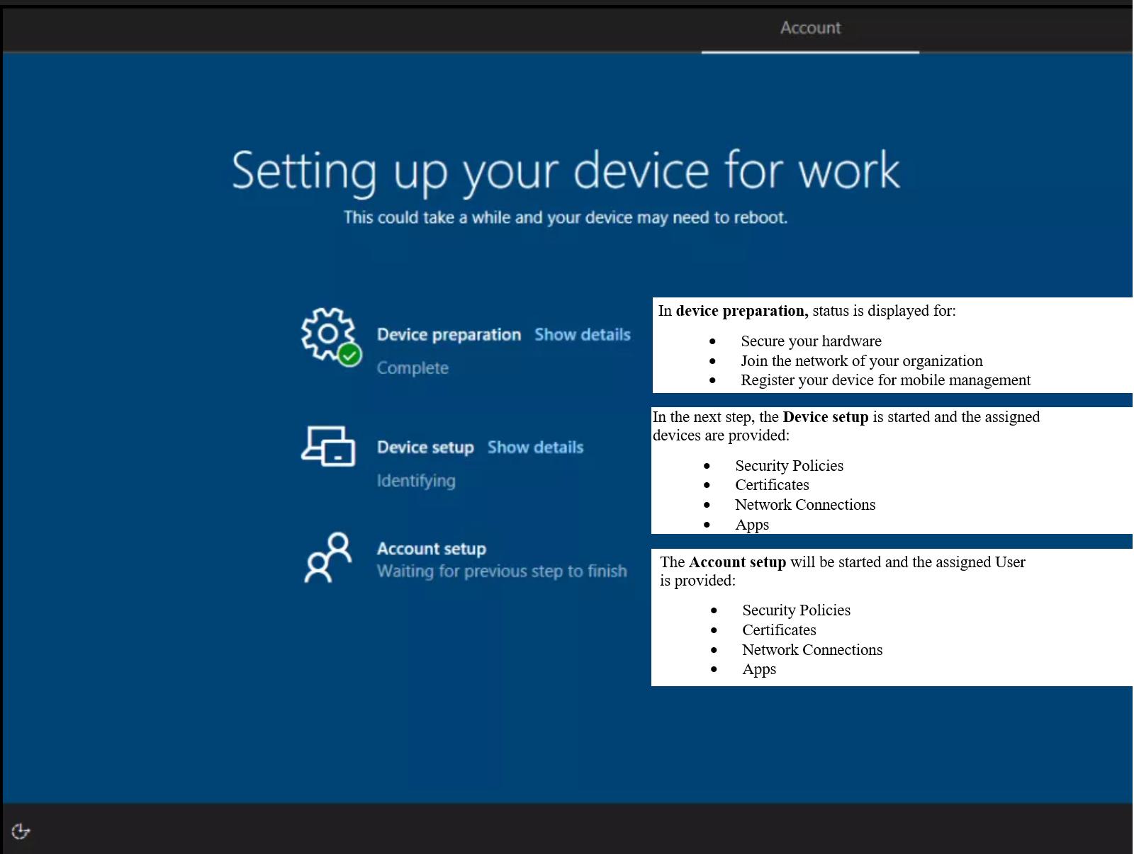 Windows Autopilot: Enrollment Status Page in Microsoft Intune - sepago