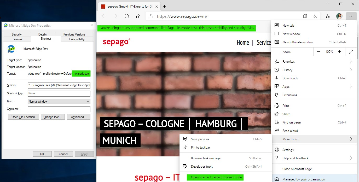 Microsoft Edge Chromium: Beta, IE Mode, AAD SSO - sepago Blog