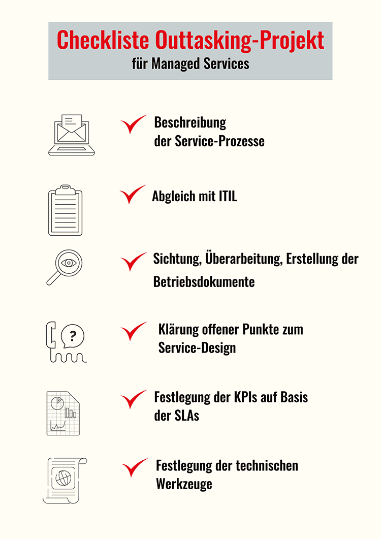 sepago Managed Services Outtasking Checkliste